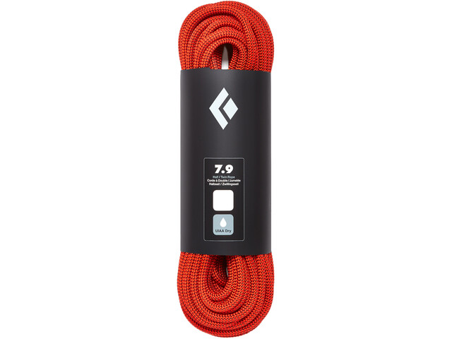 Black Diamond 7.9 Dry Cuerda 60m, orange